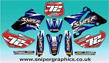 Yamaha YZ 85 splinter style kit 2002 - 2014 FREE PERSONALISATION & UK POSTAGE