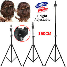 Hairdressing Training Tripod 160cm Height Adjustable Wig Head Holder AU Stock