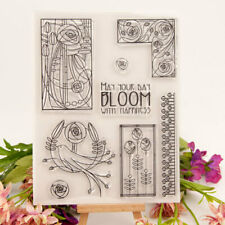 Bloom with Happiness Silicone Clear Stamp Transparent Stamps DIY Scrapbooking