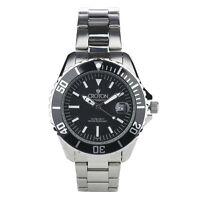 Croton Men's CA301294BKBK Automatic Black Dial Silver-Tone Bracelet 42mm Watch