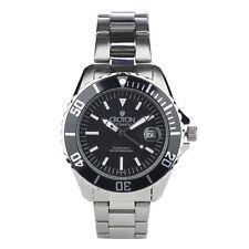 Croton Men's CA301294BKBK Automatic Black Dial Silver-Tone Bracelet 42mm Watch