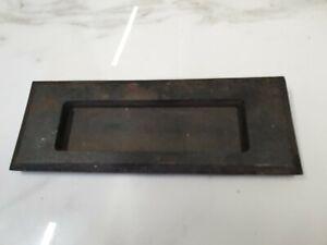 antique plain simple iron letter box