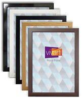 Vivarti Thin Photo Picture Frame Silver Mahogany Gloss Black / White A1 A2 A3 A4