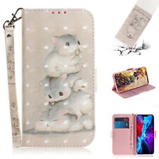 Flash Fashion 3D Painted Cute Squirrel Card Wallet Case For Various Phone Cover