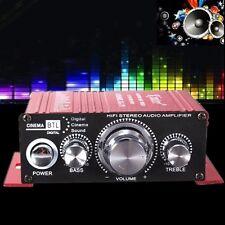 Portable Mini 2CH Hi-Fi Stereo Amplifier Booster DVD MP3 Speaker for Car Home