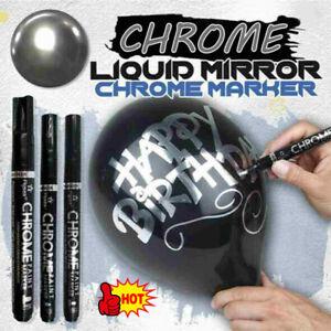 1/3 pcs Silver Art Liquid Mirror Chrome Marker Pen 0.7mm 1mm 3mm 3 Sizes