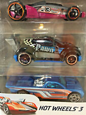 New 2017 Hot Wheels 3 Die Cast Metal Cars Carbide Fast 4WD Bedlam Collectible Pk