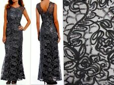 81af991f4fe Ignite Evenings NY Sequin Corded Lace Soutache Sheath Dress Gown Size 12