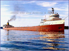 Poster Print: SS Edmund Fitzgerald On St Mary's River, Color 1967