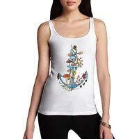 Twisted Envy Women's Anchor Lost At Sea Tank Top