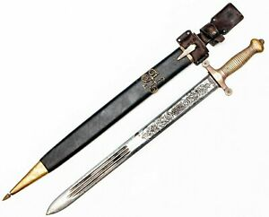 Huge knife Russian Caucasian Cossack Shashka Sword 1917 Kindjal dagger saber