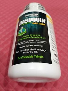 DASUQUIN MSM CHEWABLE TABLETS FOR SMALL TO MEDIUM DOGS UNDER 60 LBS COUNT OF 84