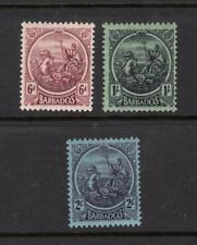 Barbados 1921-24 Partial Set - OG MH - SC# 158-160    Cats $76.75