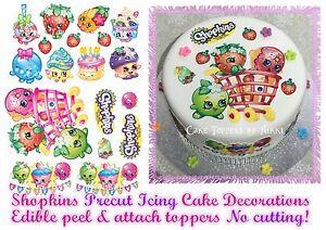 Edible Icing SHOPKINS Cake Topper Decorations *PRECUT* No Cutting EASY PEEL