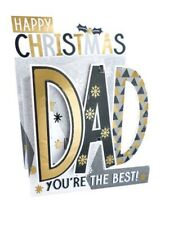 Dad Christmas 3D POP UP CARD by Second Nature - Foiled - 3D Cutting Edge - Xmas