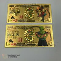 2 Billet de 10000 Yen Dragon Ball Z DBZ Gold / Pan Carte Card Carddass Banknote