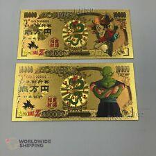 2 Billet de 10000 Yen Dragon Ball Z DBZ Gold / Pan Carte Card Carddass Banknote