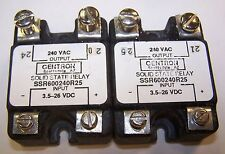2 Used Gentron Solid State Relay SSR600240R25  DC SCR Panel Mount