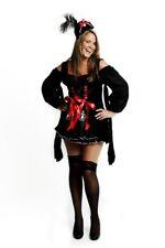 Womens Treasure Pirate Sailor Wench Vixen Ladies Fancy Dress Costume Size 8 - 10