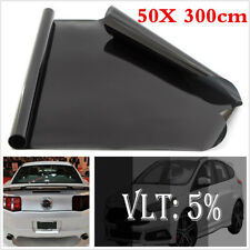 50* 300cm Black Car Auto Window Tint Film Glass VLT 5% Tint Film for Side Window