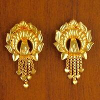 Traditional Goldplated Bridal Earrings Women 18K Stud Wedding Fashion Jewellery
