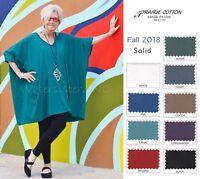 PRAIRIE COTTON USA  6715 Cotton ELBOW V TUNIC Tee Top OSFM  M/L/XL/1X  FALL 2018