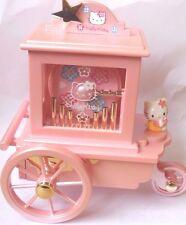 Vintage Very Rare Sanrio Hello Kitty Carriage Music Box Jewelry Box Pink JAPAN