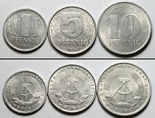 A342 Alemania Democratica lote de 3 monedas (RDA) - Germany DDR, 3 coins set