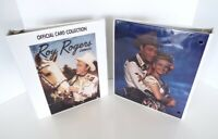 2 Vintage Roy Rogers Dale Evans 3 Ring Binders Official Notebook Arrow Catch Lot