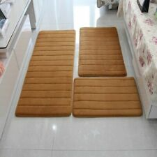 Anti Slip Floor Rugs 3Pcs Modern Memory Foam Bath Mat Set For Bathrooms Toilets