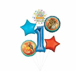 Lion King Party Supplies 1st Birthday Balloon Bouquet Decorations - Blue Numb...