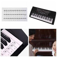 Durable Universal Transparent Piano 54/61/88 Key Note Keyboard Sticker
