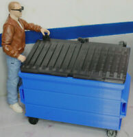 RC 1/10 Scale Trash Bin BLUE Shop Garage Crawler Doll Accessories