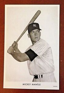 Mickey Mantle black and white postcard similar to the Wheaties ad in the 50's