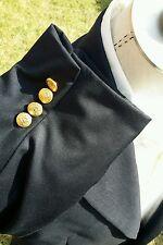 NEW Ralph Lauren Polo Men 40L Navy Blue 2-Gold Button Blazer Jacket Sport Coat