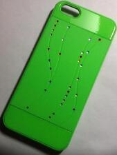 """CUSTODIA PER IPHONE 5/5S con brillantini """" Swarovski """" case VERDE GREEN cover"""