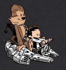 Star Wars Calvin and Hobbes Han Chewbacca Mashup Parody VERY RARE HTF Shirt NEW