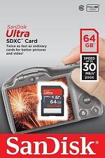 SanDisk Ultra 64 GB SDXC SDHC SD Class 10 30MB/s 200x Memory Card SDSDU-064G-U46