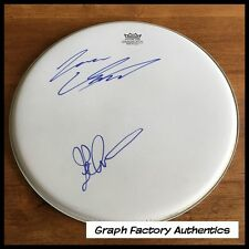 "GFA Dream Theater JOHN PETRUCCI & JAMES LaBRIE Signed 13"" Drumhead AD1 COA"