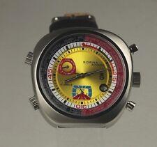 Reloj automatico sorna nos ungetragen dial en amarillo pulsera de cuero