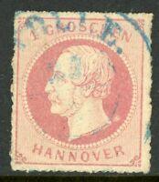 Germany 1864 Hannover 1gr Rose SG # 37 VFU G180