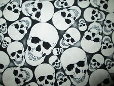 WICKED SKULLS GLOW IN THE DARK COTTON FABRIC FQ
