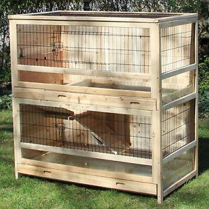 Kaninchenstall Hasenstall Kleintierstall Rübe - Indoor - für drinnen von Zoo XXL