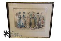 Antique 1880 The Queen Lady's Newspaper Latest Paris Fashion Colored Engraving