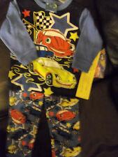 NWT TOON STUDIO BEVERLY HILLS 2 PC CARS RACECAR PAJAMAS LONG SLEEVE 12 MOS