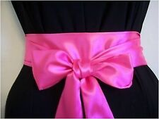 "2.5 ""x100"" NEON Rosa Raso Sash Belt Self TIE Bow for party occasione Prom Dress"