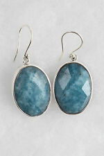 NEW Handmade Blue Agate and Sterling Silver Earrings