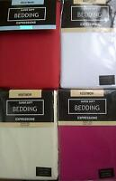 SOFT TOUCH SINGLE SIZE FLAT SHEET CHOICE OF COLOURS CREAM OR CERISE