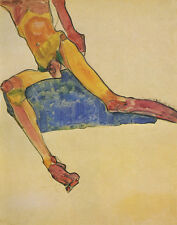 Schiele Egon Torso Of A Seated Male Nude Print 11 x 14 # 3994