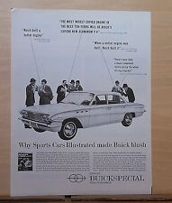 1960 magazine ad for Buick  - Sports Car Illustrated  admires Buick Special
